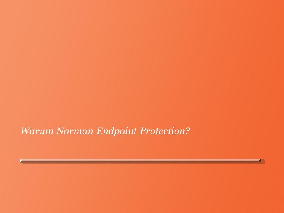 Einfache Installation Norman Endpoint Manager für die zentrale Bereitstellung und Verwaltung Erstellt vorkonfigurierte Installer zur einfachen Bereitstellung auf Clientsystemen Norman Endpoint Manager
