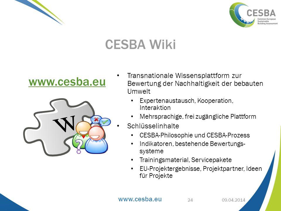 www.cesba.eu Transnationale Wissensplattform zur Bewertung der Nachhaltigkeit der bebauten Umwelt Expertenaustausch, Kooperation, Interaktion Mehrspra