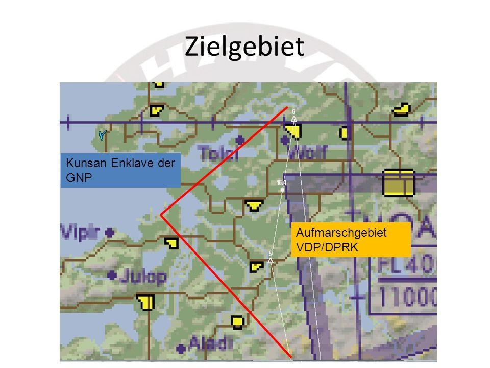 Zielgebiet Kunsan Enklave der GNP Aufmarschgebiet VDP/DPRK