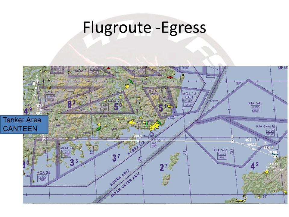 Flugroute -Egress Tanker Area CANTEEN
