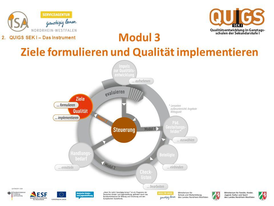 Modul 3 Ziele formulieren und Qualität implementieren 2. QUIGS SEK I – Das Instrument