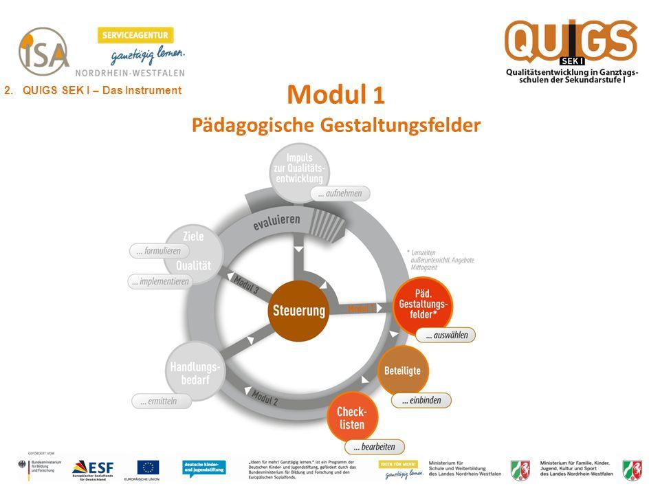 Modul 1 Pädagogische Gestaltungsfelder 2. QUIGS SEK I – Das Instrument
