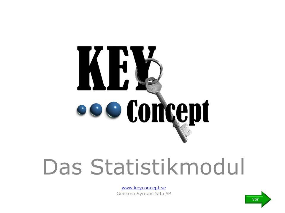 Das Statistikmodul www.keyconcept.se Omicron Syntax Data AB vor