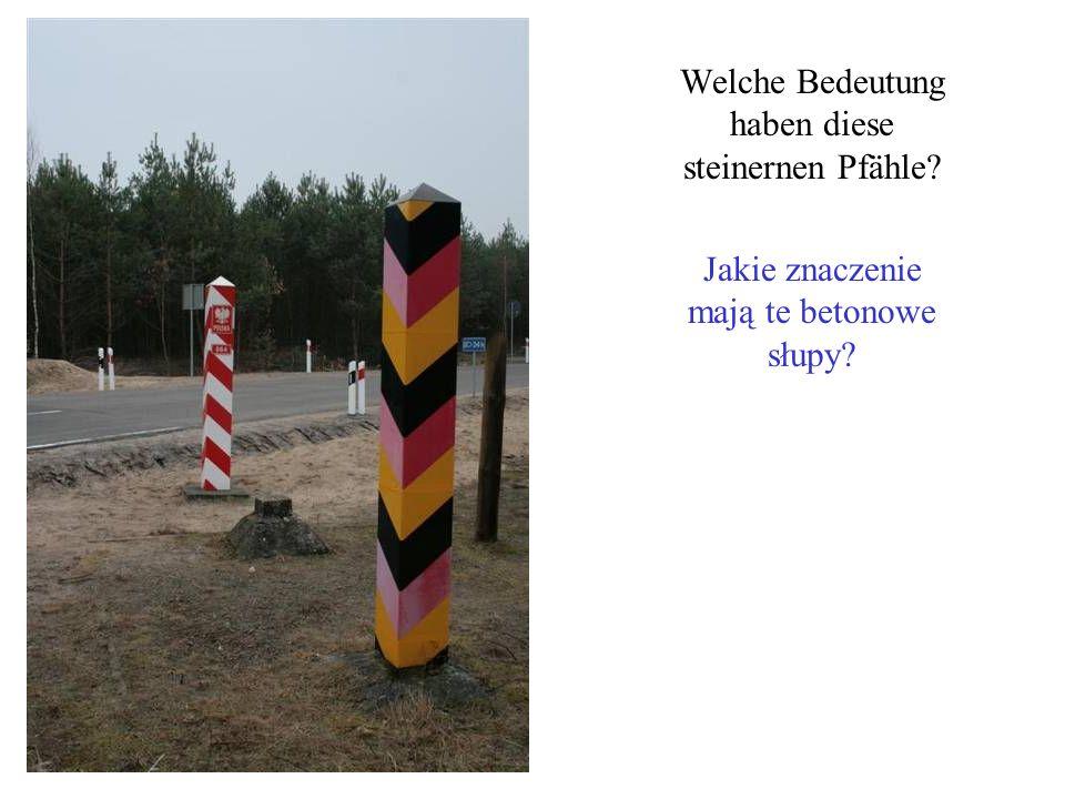 Welche Bedeutung haben diese steinernen Pfähle? Jakie znaczenie mają te betonowe słupy?