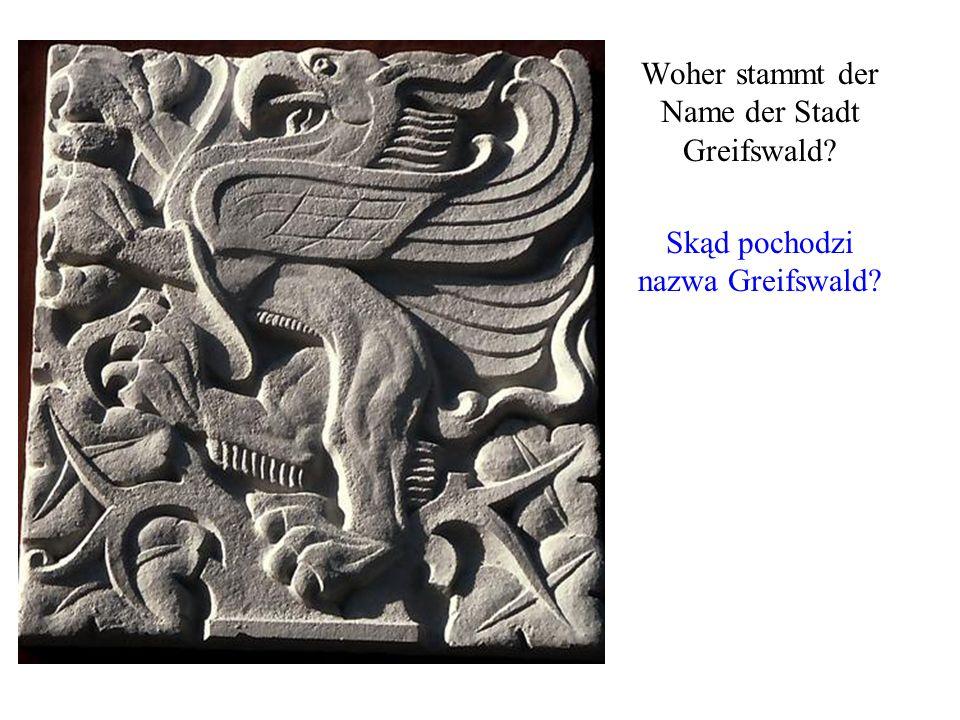 Woher stammt der Name der Stadt Greifswald? Skąd pochodzi nazwa Greifswald?