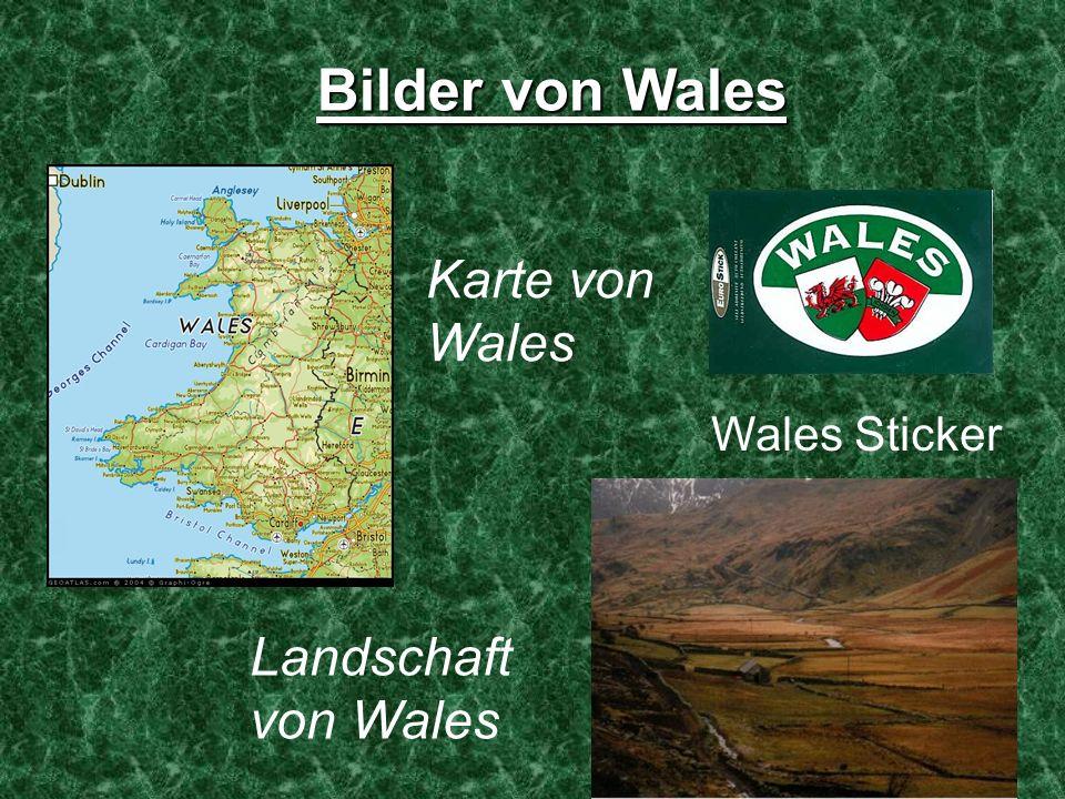 Bilder von Wales Wales Sticker Karte von Wales Landschaft von Wales