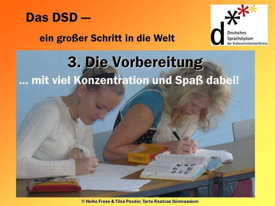 Das DSD ein großer Schritt in die Welt © Heiko Frese & Tiina Peedor, Tartu Raatuse Gümnaasium 3.