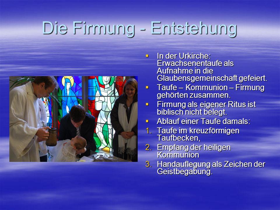 Die Firmung - Symbolik Das Auflegen der Hände ist ein Gestus der Zuwendung und der Übertragung von Leben und Kraft.