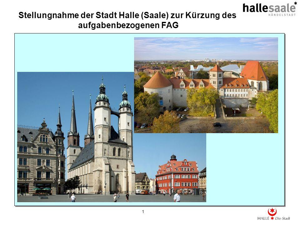Stellungnahme der Stadt Halle (Saale) zur Kürzung des aufgabenbezogenen FAG 1
