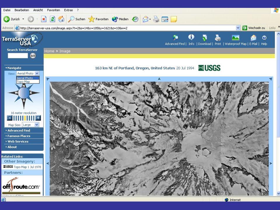 3 Überblick zu Luft- und Satellitenbildern + Arten von Luft- & Satellitenbilden (Fortsetzung) + Möglichkeiten der Bildverarbeitung + Bezugsquellen + Kosten
