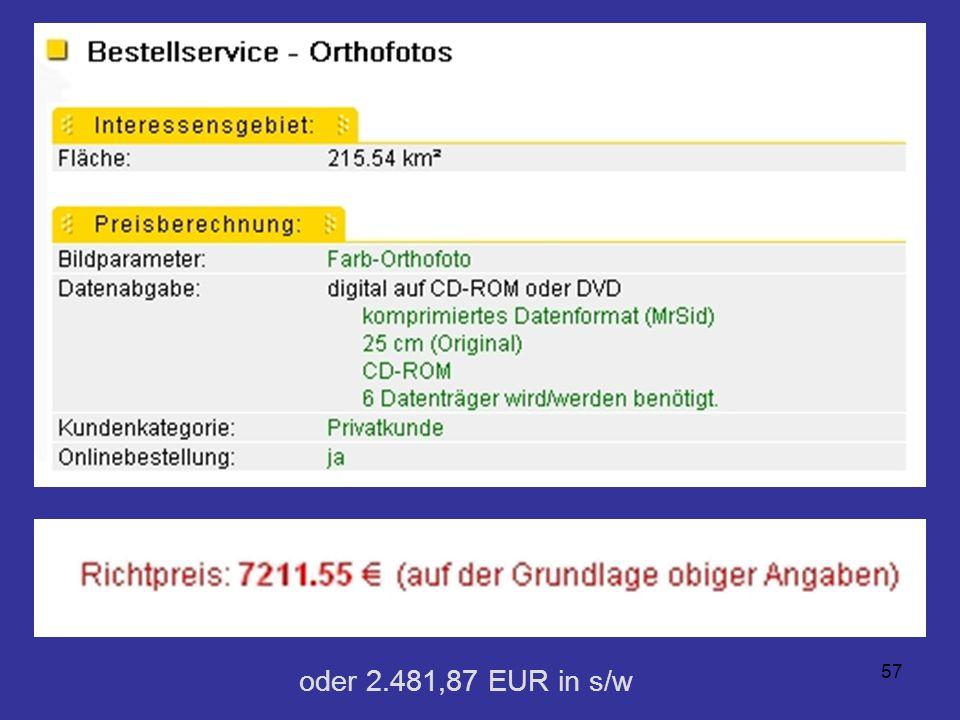 57 oder 2.481,87 EUR in s/w