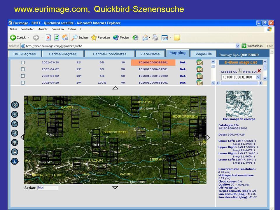 63 text www.eurimage.com, Quickbird-Szenensuche