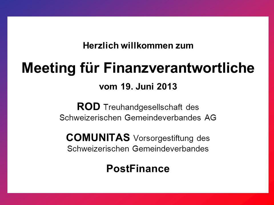 Herzlich willkommen zum Meeting für Finanzverantwortliche vom 19.
