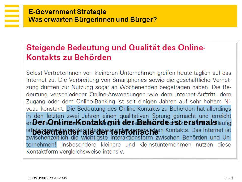 E-Government Strategie Was erwarten Bürgerinnen und Bürger.
