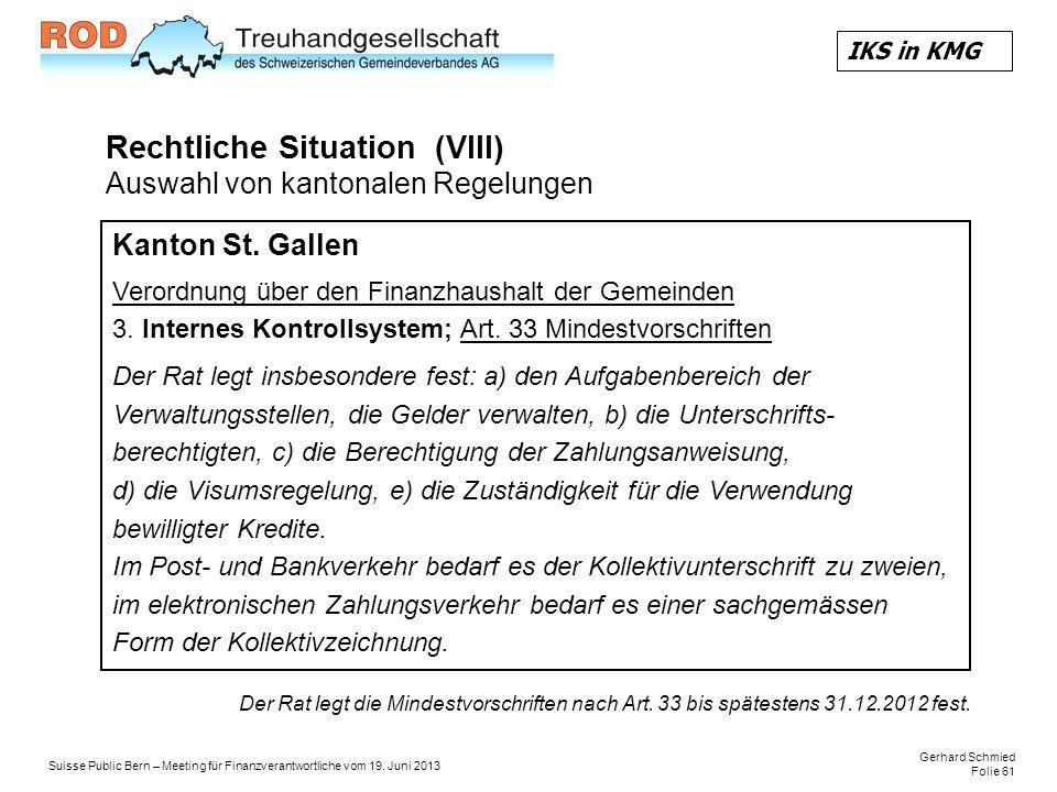 Gerhard Schmied Folie 61 Suisse Public Bern – Meeting für Finanzverantwortliche vom 19.