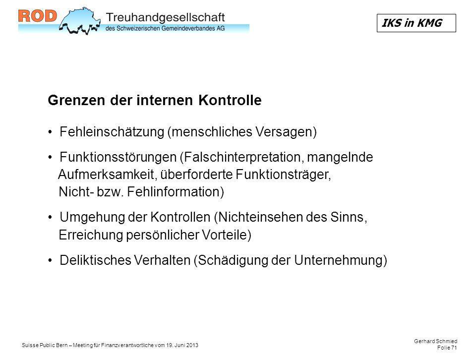Gerhard Schmied Folie 71 Suisse Public Bern – Meeting für Finanzverantwortliche vom 19.