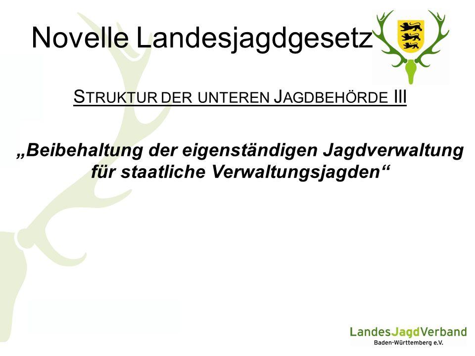 Novelle Landesjagdgesetz F ALLENJAGD I Die Grenzen der Zulässigkeit der Fallenjagd sind im Gesetz neu festzulegen.