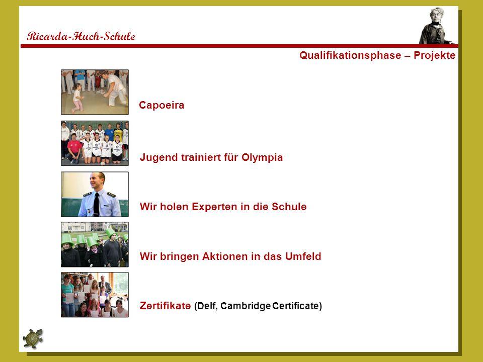 Ricarda-Huch-Schule Qualifikationsphase – Projekte Capoeira Jugend trainiert für Olympia Wir holen Experten in die Schule Wir bringen Aktionen in das