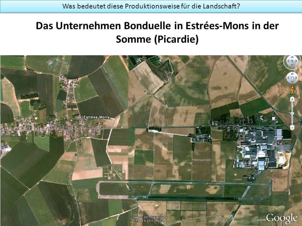 Das Unternehmen Bonduelle in Estrées-Mons in der Somme (Picardie) Was bedeutet diese Produktionsweise für die Landschaft?
