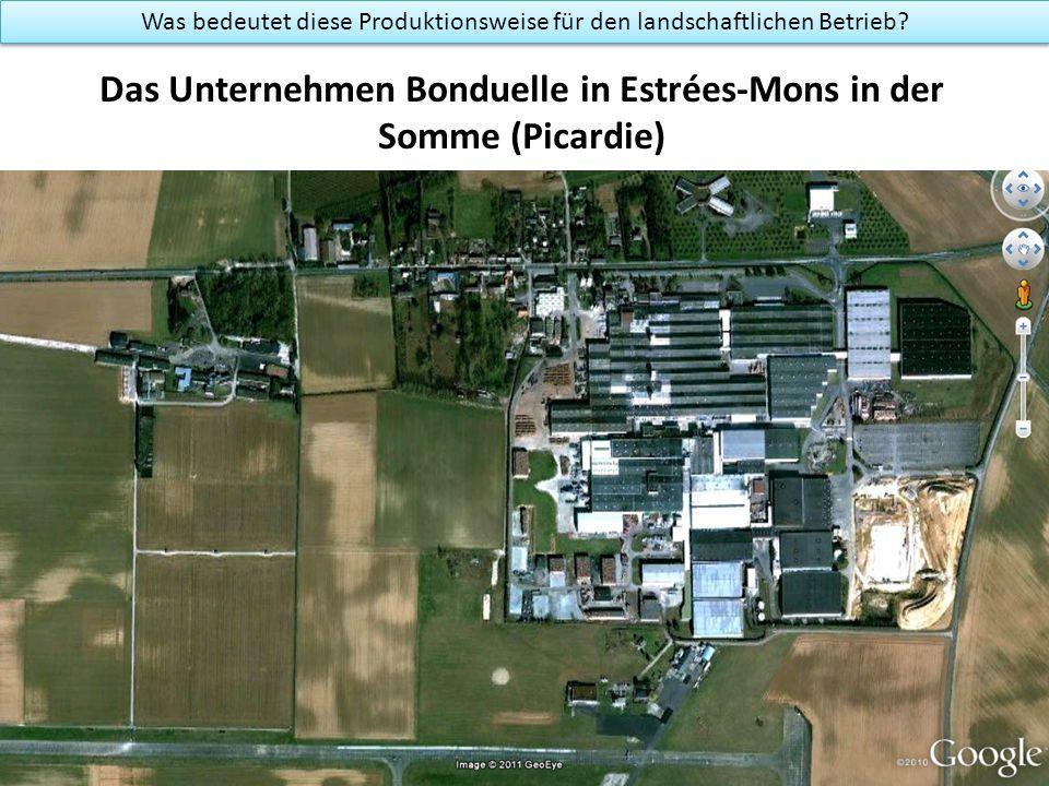 Das Unternehmen Bonduelle in Estrées-Mons in der Somme (Picardie) Was bedeutet diese Produktionsweise für den landschaftlichen Betrieb?