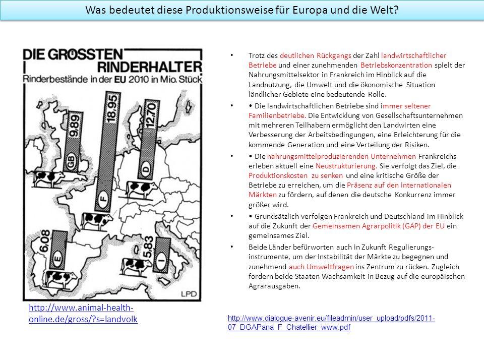 Was bedeutet diese Produktionsweise für Europa und die Welt? http://www.animal-health- online.de/gross/?s=landvolk Trotz des deutlichen Rückgangs der
