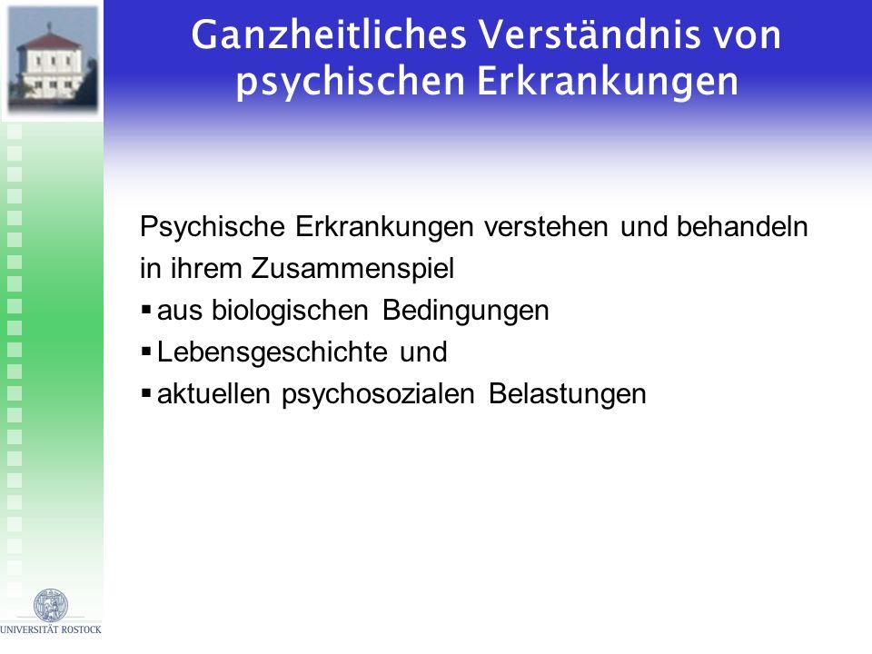 Ganzheitliches Verständnis von psychischen Erkrankungen Psychische Erkrankungen verstehen und behandeln in ihrem Zusammenspiel aus biologischen Beding