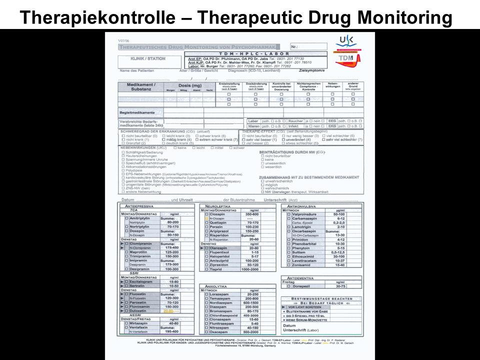 Therapiekontrolle – Therapeutic Drug Monitoring