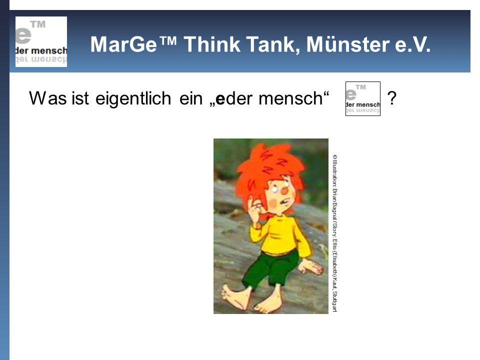 Was ist eigentlich ein eder mensch ? © Illustration: Brian Bagnal / Story: Ellis (Elisabeth) Kaut, Stuttgart MarGe Think Tank, Münster e.V.