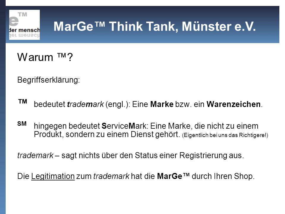 Warum Think-Tank.Begriffserklärung: Eine Denkfabrik (nach engl.