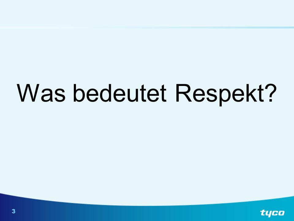 3 Was bedeutet Respekt?