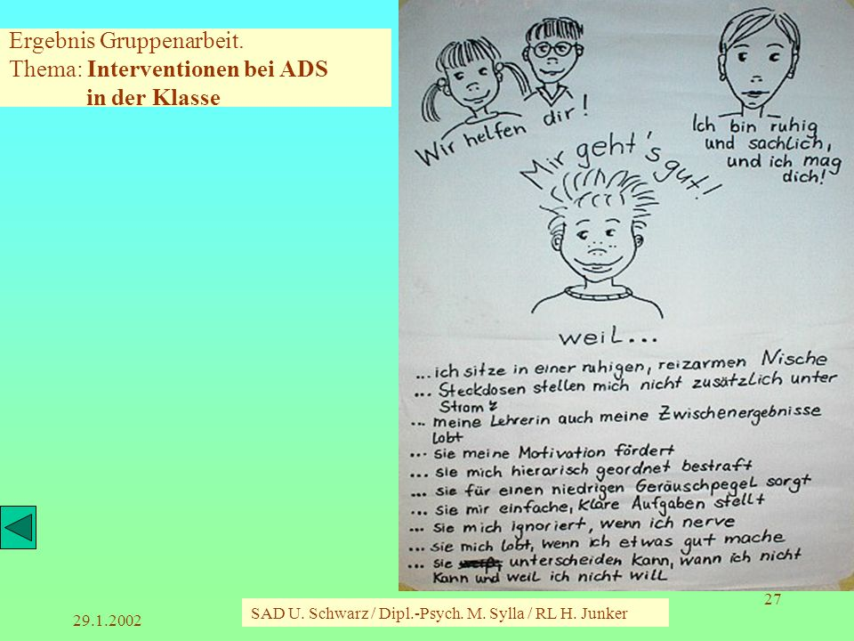 29.1.2002 SAD U.Schwarz / Dipl.-Psych. M. Sylla / RL H.