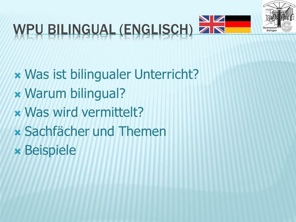Was ist bilingualer Unterricht. Warum bilingual. Was wird vermittelt.
