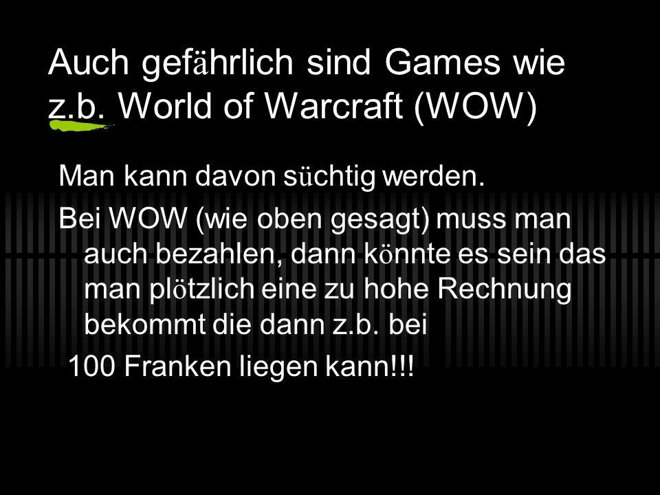 Aufgepasst Keine unkontrollierten Games installieren!!!