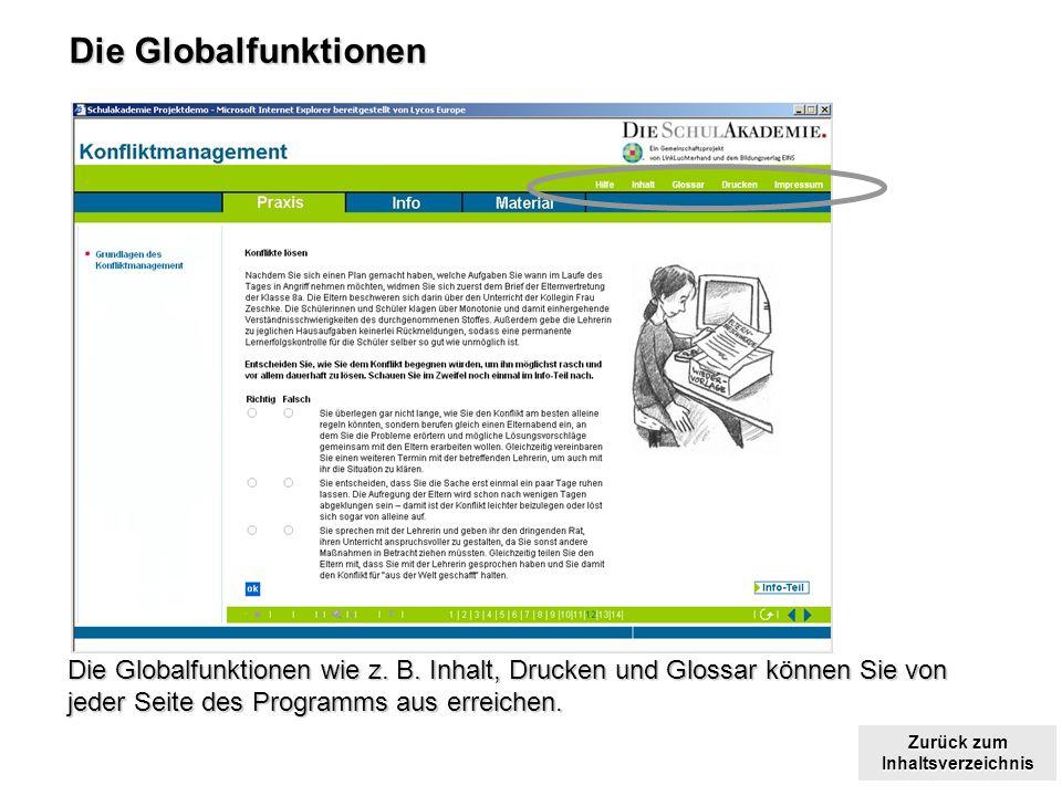 Zurück zum Inhaltsverzeichnis Zurück zum Inhaltsverzeichnis Die Globalfunktionen Die Globalfunktionen wie z.