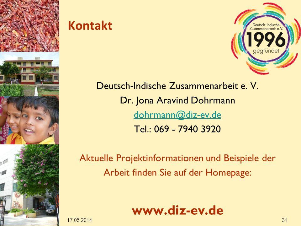 Kontakt Deutsch-Indische Zusammenarbeit e.V. Dr.