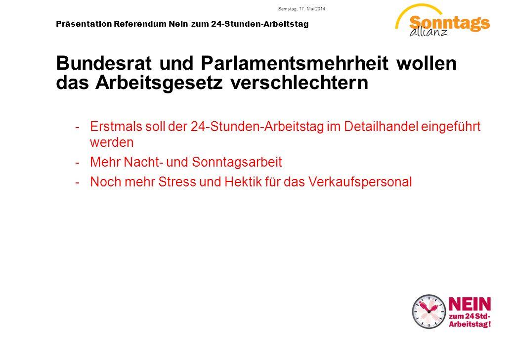 2 Präsentation Referendum Nein zum 24-Stunden-Arbeitstag Samstag, 17.