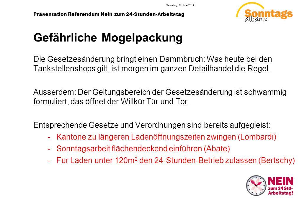 5 Präsentation Referendum Nein zum 24-Stunden-Arbeitstag Samstag, 17.