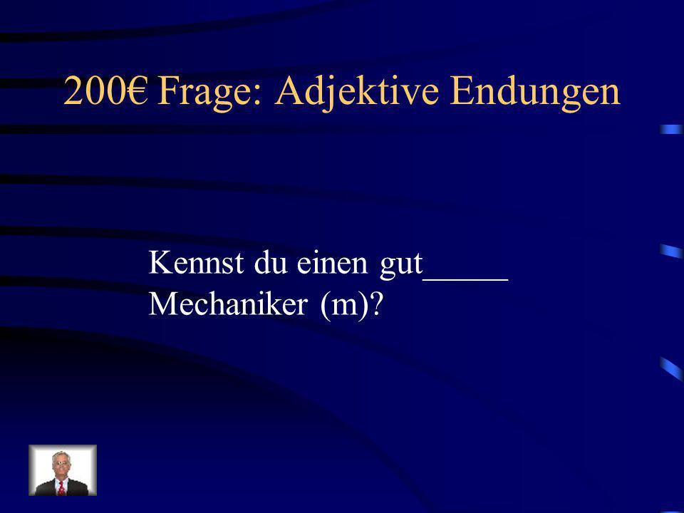 100 Antwort: Adjektive Endungen Wir verkaufen unser altes Haus (n).