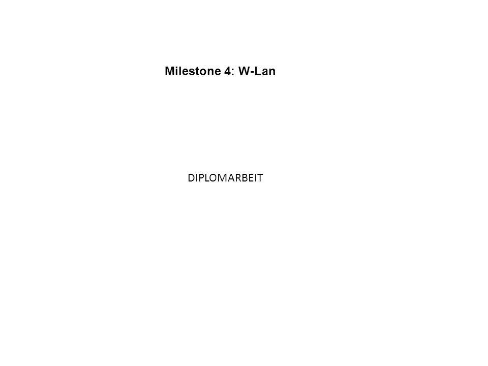 Milestone 4: W-Lan DIPLOMARBEIT
