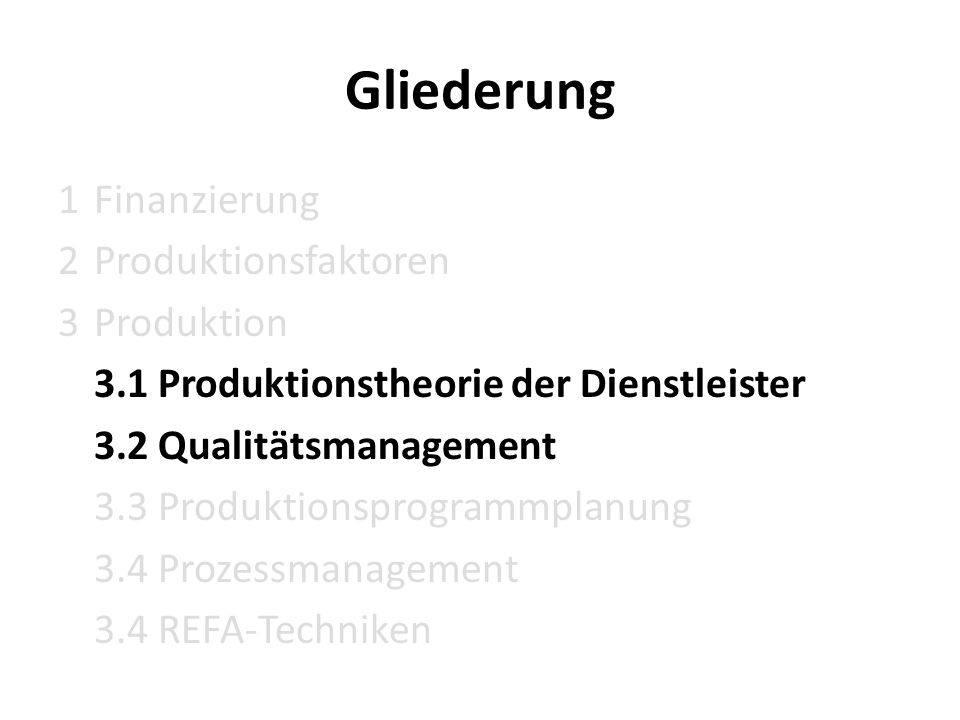 3.1 Produktionstheorie der Dienstleister Produktion Produktions- ergebnisse Produktions- faktoren