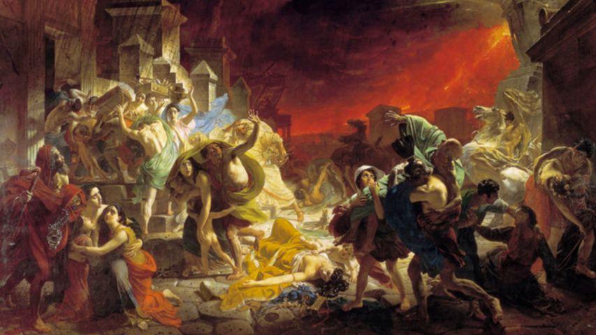FOTOBACKGROUND Stadt Pompeji: Vier Tage lang zitterte die Erde und neun Ortschaften verschwanden: Herkulaneum, Pompeji, Stabiae, Oplontis, Leucopaetra