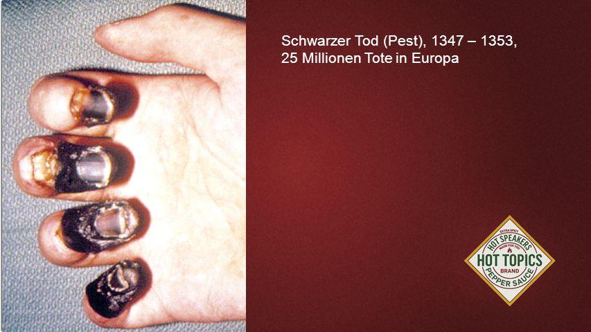 FOTOBACKGROUND Schwarzer Tod (Pest), 1347 – 1353, 25 Millionen Tote in Europa