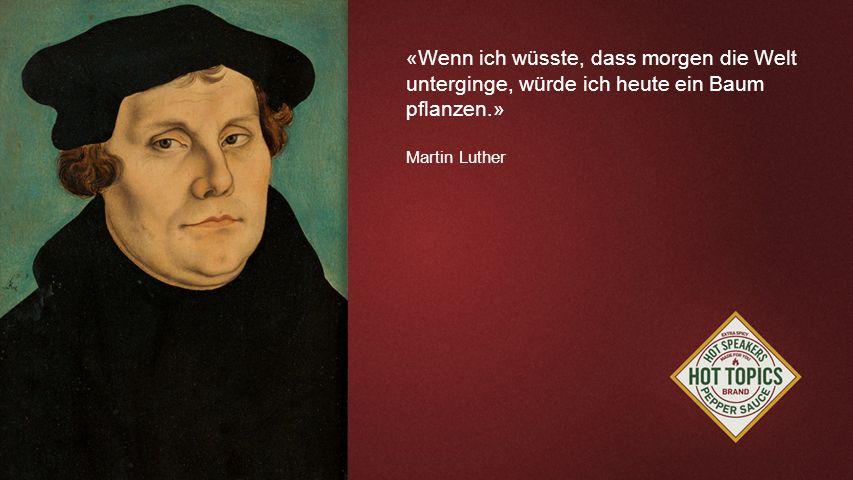 FOTOBACKGROUND «Wenn ich wüsste, dass morgen die Welt unterginge, würde ich heute ein Baum pflanzen.» Martin Luther