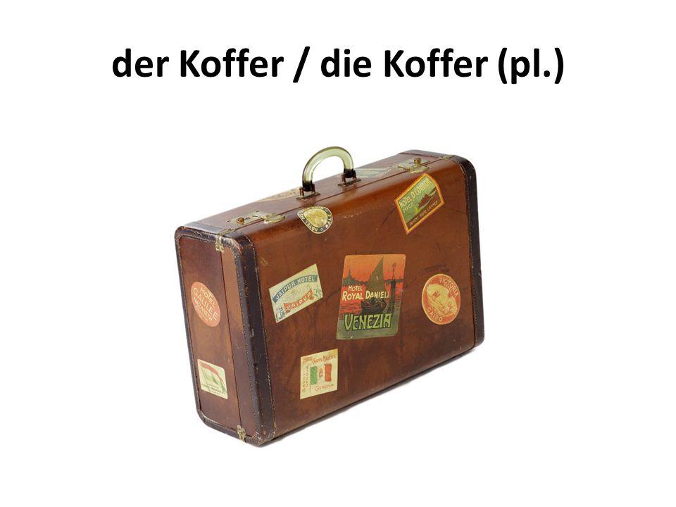 der Koffer / die Koffer (pl.)