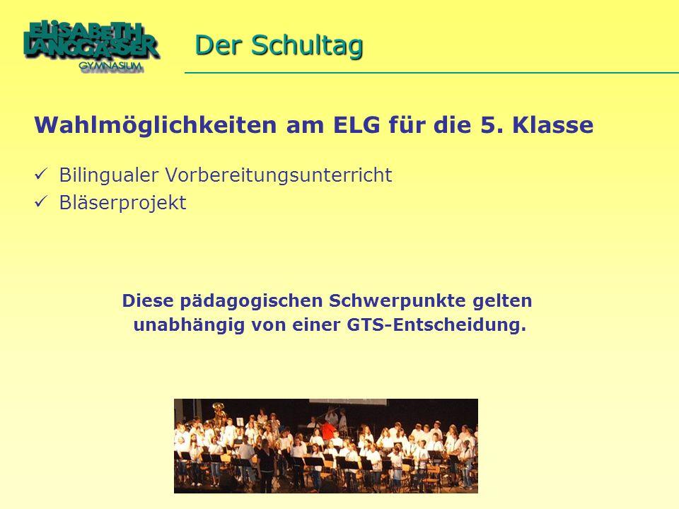 Wahlmöglichkeiten am ELG für die 5.