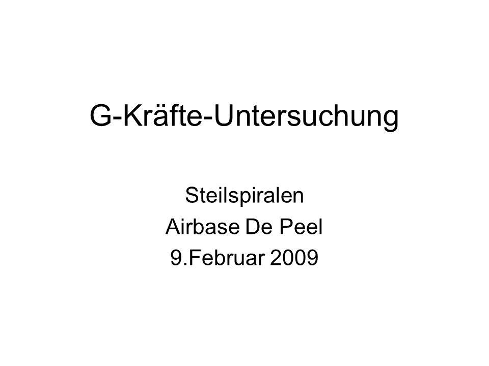 G-Kräfte-Untersuchung Steilspiralen Airbase De Peel 9.Februar 2009