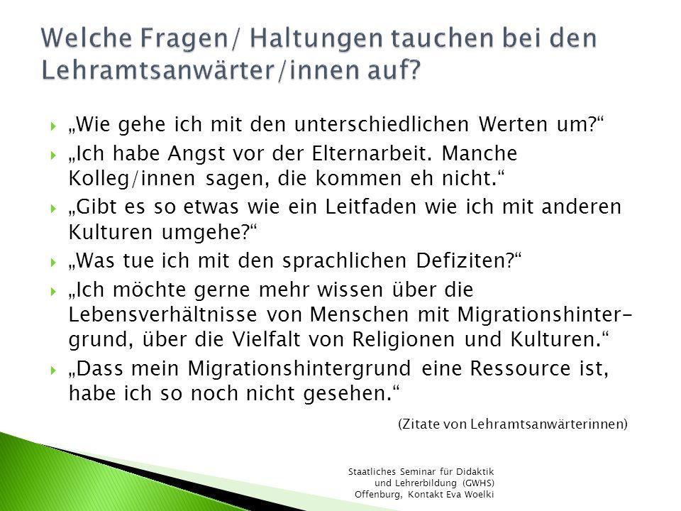 Profiltag Interkulturalität Veranstaltung für alle Lehramtsanwärterinnen und Mitarbeiterinnen Input und Workshops, z.B.