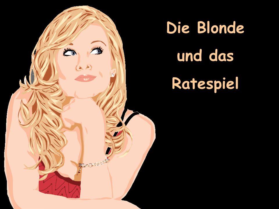 Eine Blonde nimmt an einem Intelligenzquiz in einer Life TV Show teil.