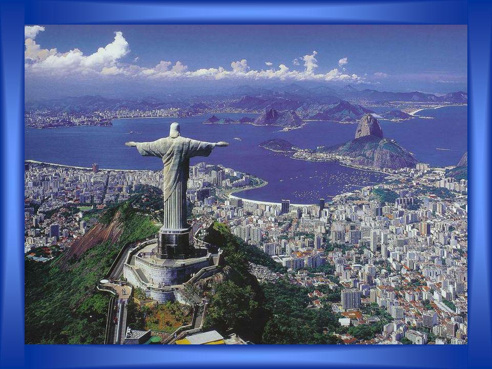 Wahrzeichen von Rio de Janeiro sind der Zuckerhut, die 38 Meter hohe Christusfigur auf dem Gipfel des Corcovado und der Strand des Stadtteils Copacaba