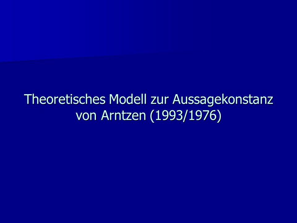 Zusätzlich zu berücksichtigende Bedingungen im Konstanzmodell von Arntzen